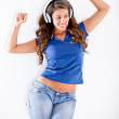 Happy woman with headphones — Stock Photo #10128073