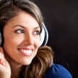 Woman listening to music — Stock Photo #10128074