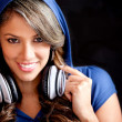 Girl with headphones — Foto de stock #10128076