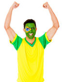 Excited Brazilian man — Stock Photo