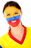 Happy Colombian woman — Stock Photo
