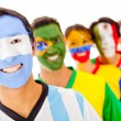Argentina leading a Latin group — Stock Photo
