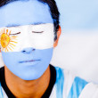 Man with Argentina&amp;#039;s flag - Stock Photo