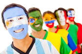 Argentina leading a Latin group — Stock Photo