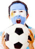 Argentinean celebrating a goal — Stock Photo