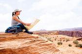 Woman at the Grand Canyon — Stock Photo