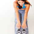 Fit womstretching — Stock Photo #10164059