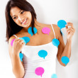 Woman with chat bubbles — Stock Photo #10164091