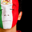 Man with flag of Mexico — Stock Photo