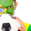 Stock Photo: Brazilifootball fan