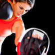 Woman boxing — Stock Photo #10226276