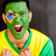 Brazilian man shouting — Stock Photo