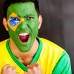 Brazilian man shouting — Stock Photo