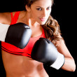 Royalty-Free Stock Photo: Female boxer