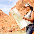 Stock Photo: Woman at the Grand Canyon