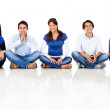 Group of friends sitting — Stock Photo #10226771