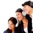 Stock Photo: Group listening to music