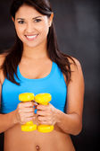 Woman tht the gym — Stock Photo