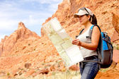 Woman at the Grand Canyon — Stock Photo
