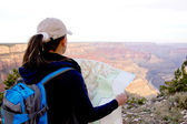 Adventurous female at the Grand Canyon — Stock Photo