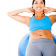 Womexercising abs — Stock Photo #10236434