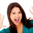 Woman screaming — Stock Photo