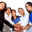 With hands together — Stock Photo #10248313