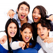 Surprised group pointing — Stock Photo #10248324
