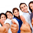Friends with thumbs up — Stock Photo #10248325