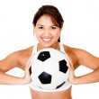 Female football player — Stock Photo #10248334