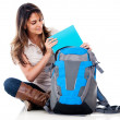 Female student with her bag — Stock Photo