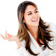 Confident business woman talking — Stock Photo