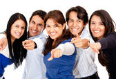 Group pointing at the camera — Stock Photo