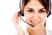 Customer support operator — Stock Photo