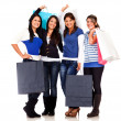 Stock Photo: Group of shopping women