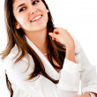 Happy businesswoman - Stock Photo