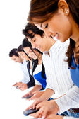 Group of texting — Stock Photo