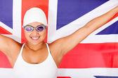 Female swimmer — Stock Photo