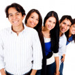 Group in a row — Stock Photo
