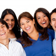 Group of friends laughing — Stock Photo