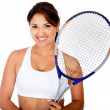 Female tennis player — Stock Photo #10292557