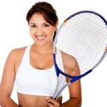 Female tennis player — Stock Photo #10292557