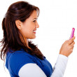 Woman text messaging — Stock Photo