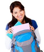 Happy female student — Stock Photo