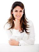 Happy business woman — Stock Photo