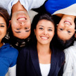 Group of friends smiling — Stock Photo