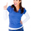 Royalty-Free Stock Photo: Woman pointing an idea