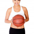 Woman with a basketball — Stock Photo #10375300