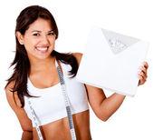 Donna, perdere peso — Foto Stock