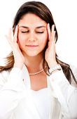 Businesswoman with a headache — Stock Photo